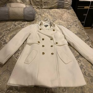 AGB off-white double- breasted peacoat size M